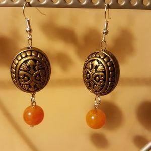 Vintage/ Golden/🍊 Orange Earrings 💎